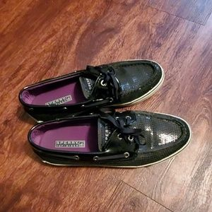Sperry Top-Sider Boat Shoes size 7.5 Black